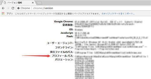 Chrome プロフィール PATH