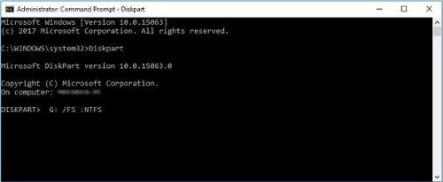 RAW NTFS 変換