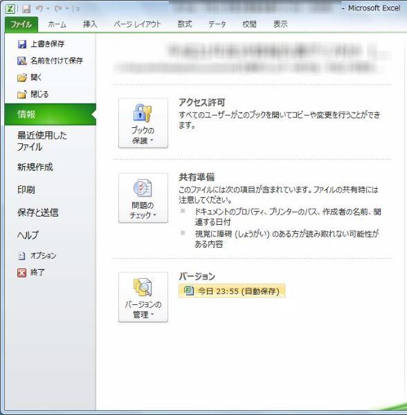 エクセル ファイル アクセス