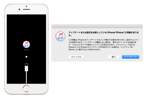 iTunesで復元する