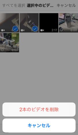 ビデオを削除する
