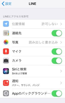LINE アプリと通知