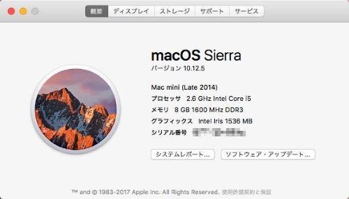 Mac スペック 確認 システム