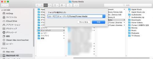 ビデオファイル 移動