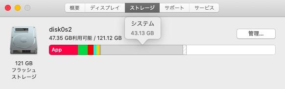 Mac システム 容量