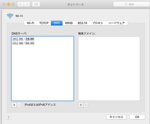 Mac インターネット 遅い DNS