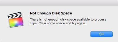 iMovie 容量 不足