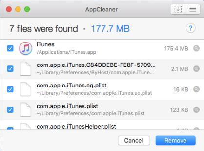 iTunes 削除