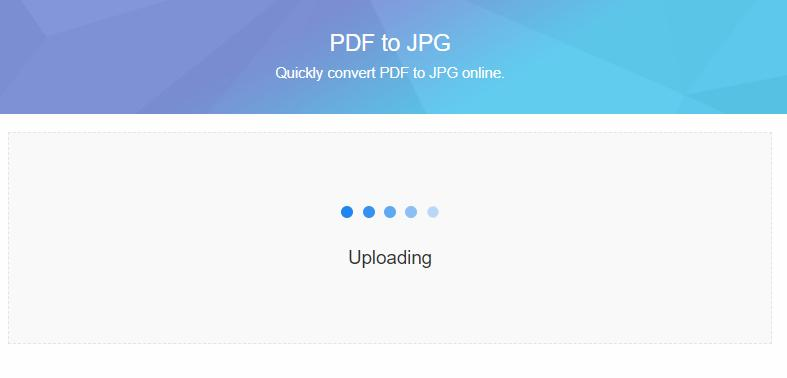 PDFファイルアップロード中