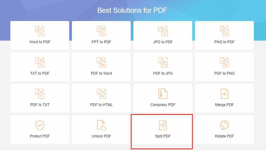 EasePDF PDF分割