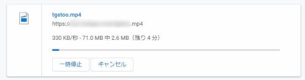動画 ダウンロード中