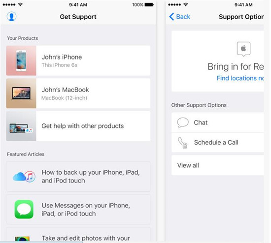 「Appleサポート」