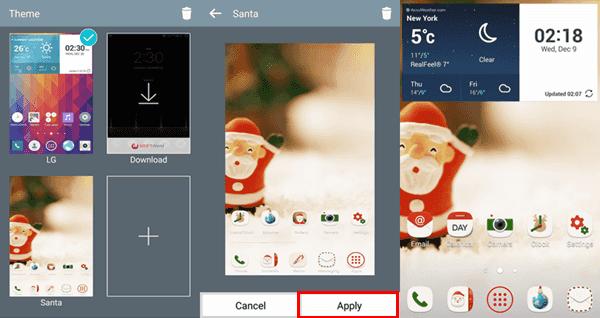 AndroidでLG G3のテーマを変更