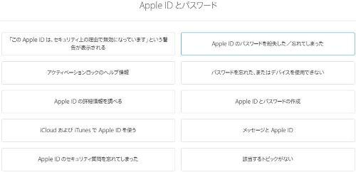 Apple ID パスワード サポート