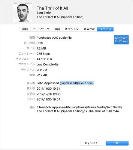 Apple ID iTunes Store 購入者