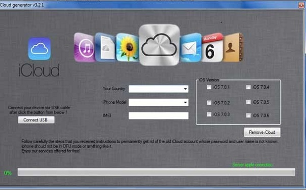 iCloud generator