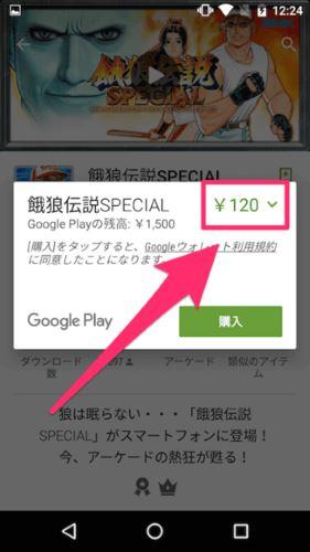 Google プレイ 金額