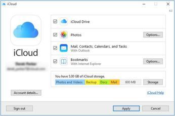 WindowsでiCloudを設定