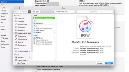 iOSバージョンをダウングレード