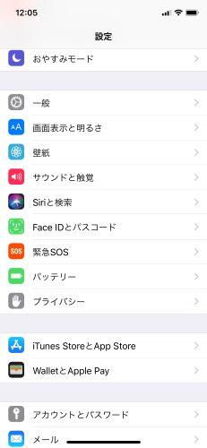 iPhone X 設定
