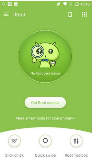 「Get Root access」ボタンをタップ