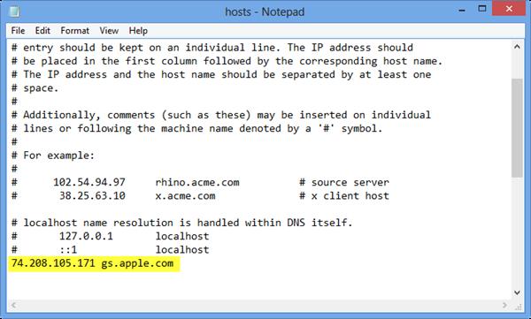 hosts変更