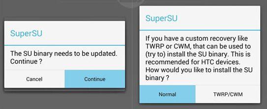 SuperSUをアップデート