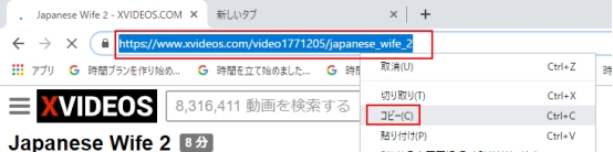 Xvideos URL コピー