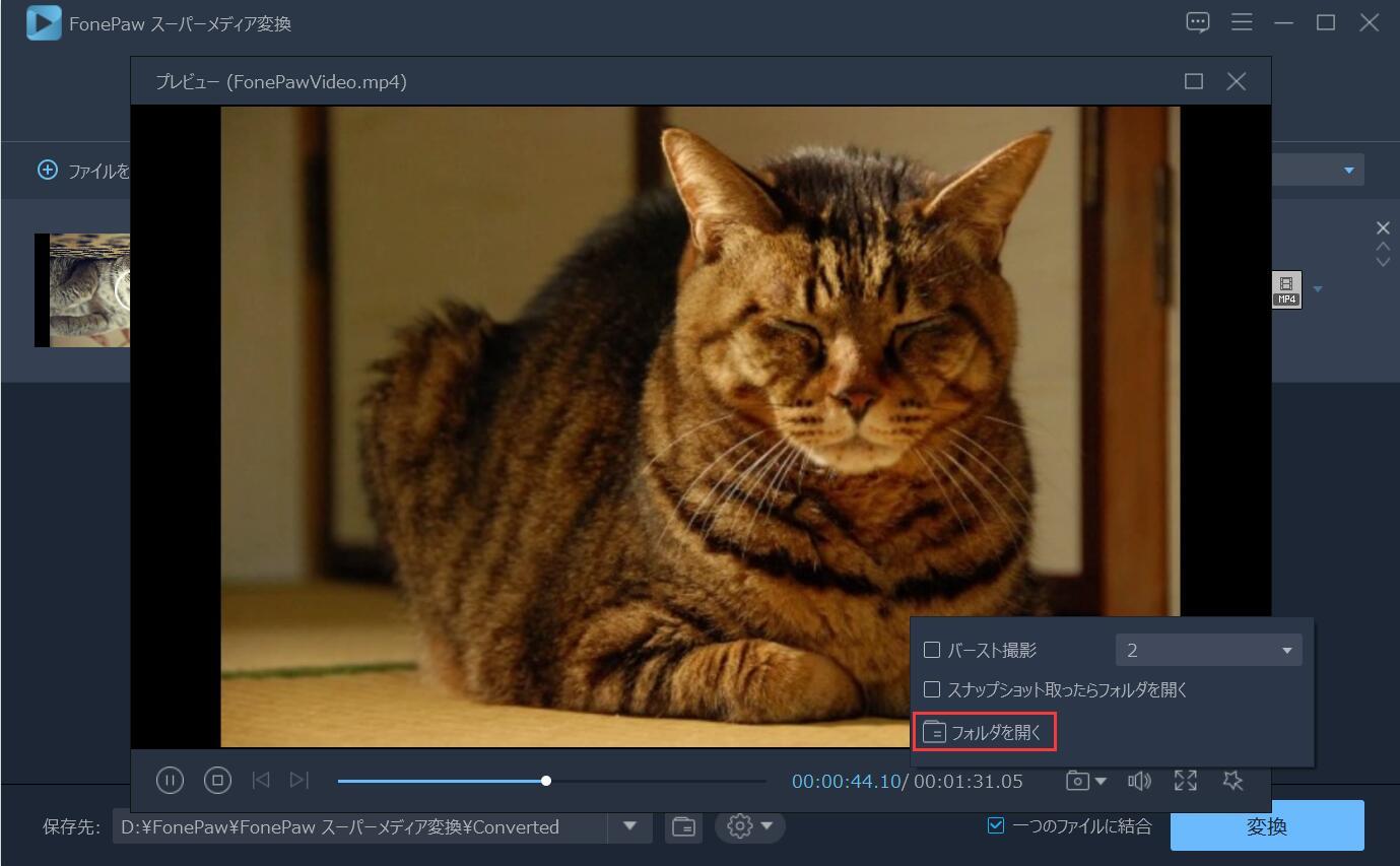 FLV動画を追加
